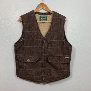 WOOLRICH Wool Shearling zip up vest size:M
